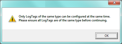Same logger type error message